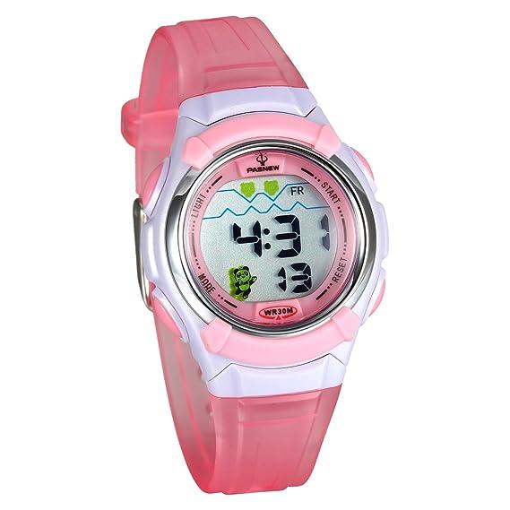 Amazon.com: Lancardo 30M Water Resistan Adults Digital Sport Train Wrist Watch(Pink): Watches