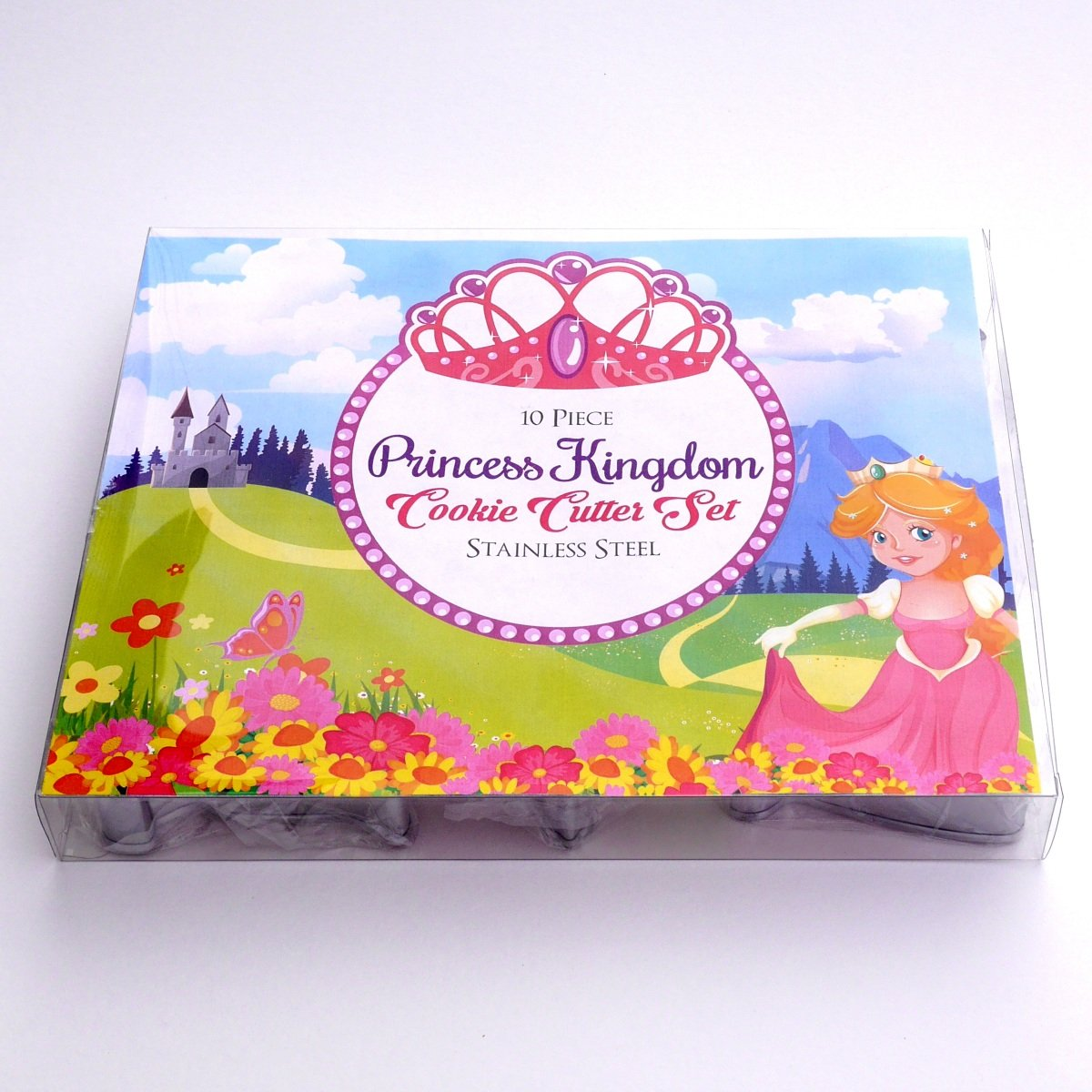 Princess Kingdom Cookie Cutter Set - 10 Piece Stainless Steel by Sweet Cookie Crumbs (Image #1)