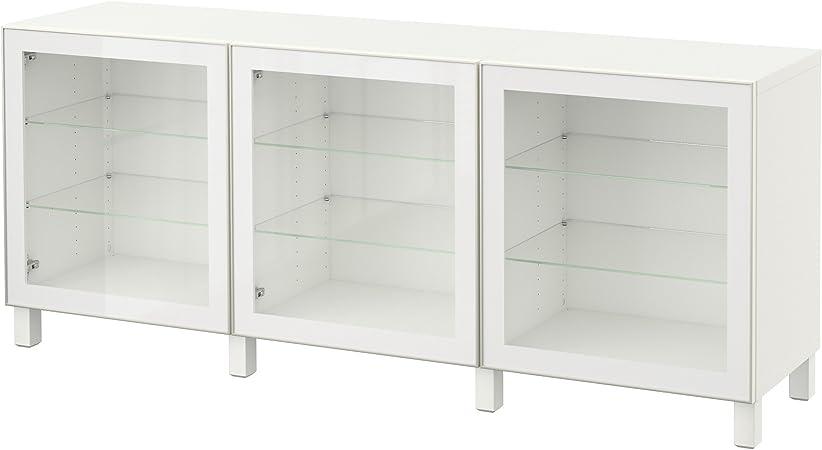 IKEA BESTA - Combinación almacenaje con puertas de vidrio ...