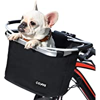 Cofit Collapsible Bike Basket, Multi-Purpose Bicycle Handle Basket for Pet Carrier, Grocery Shopping, Briefcase Commuter…