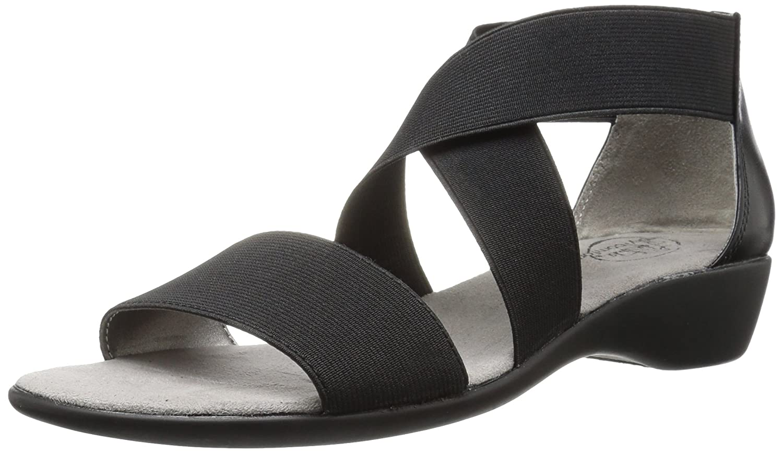 Lifestride Women's Tellie Fabric Sandal B06W9JDX5W 9.5 B(M) US|ブラック ブラック 9.5 B(M) US