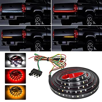 Amazon zflin waterproof 48 redwhiteyellow tailgate led strip zflin waterproof 48quot redwhiteyellow tailgate led strip light bar truck reverse aloadofball Gallery