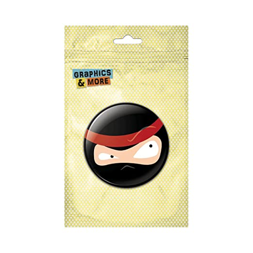 Amazon.com: Ninja Face Head Pinback Button Pin Badge - 1 ...