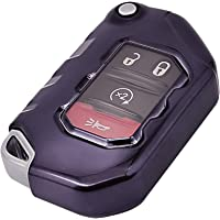 Alegender Soft TPU Key Fob Cover Case Remote Holder Skin Glove Fit for 2020 2021 Jeep Gladiator JT Sahara JLU 2018 2019…
