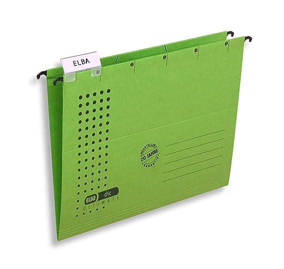 DIN A4 10 Herlitz Hängemappen 5 verschiedene Farben Kraftkarton 230g//m²