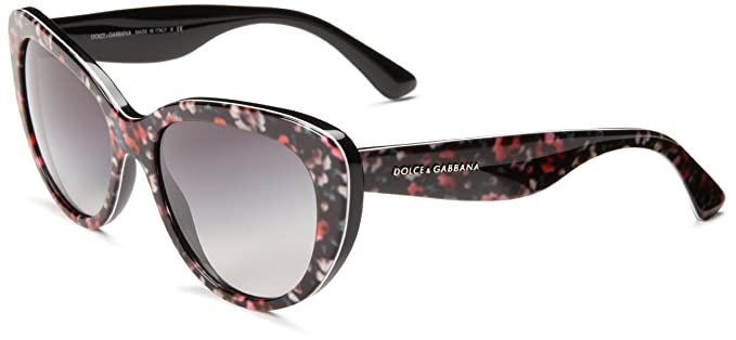 7682f79ade80 Dolce and Gabbana 4189 27788G Black Flowers 4189 Cats Eyes Sunglasses Lens  Cate  Amazon.co.uk  Clothing