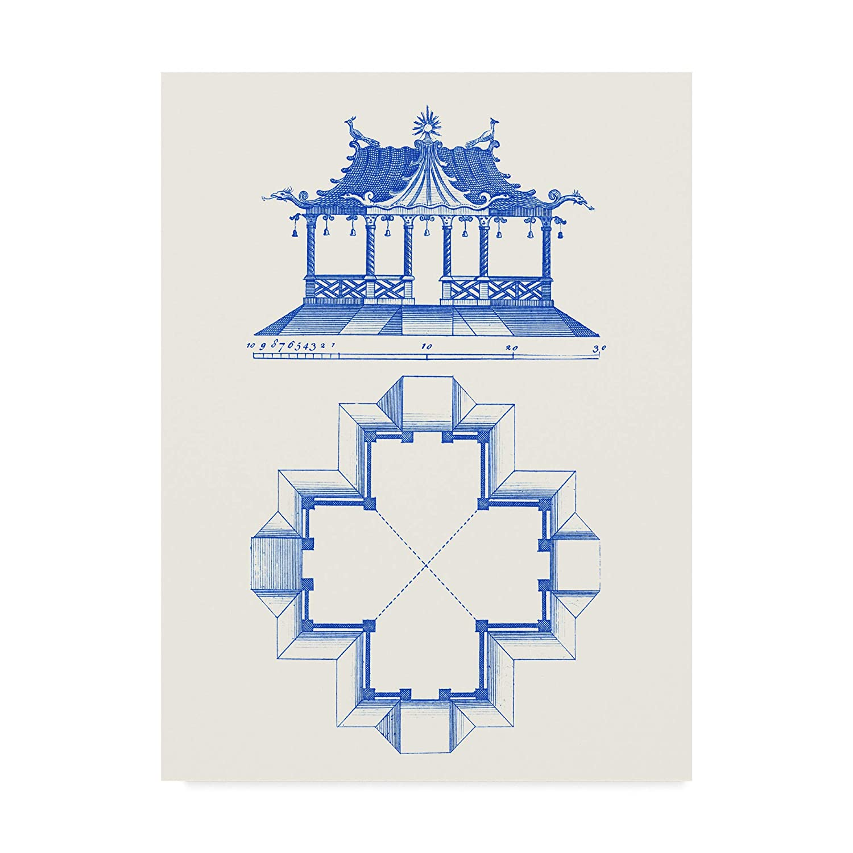 Trademark Fine Art Pagoda Design II by Vision Studio, 14x19