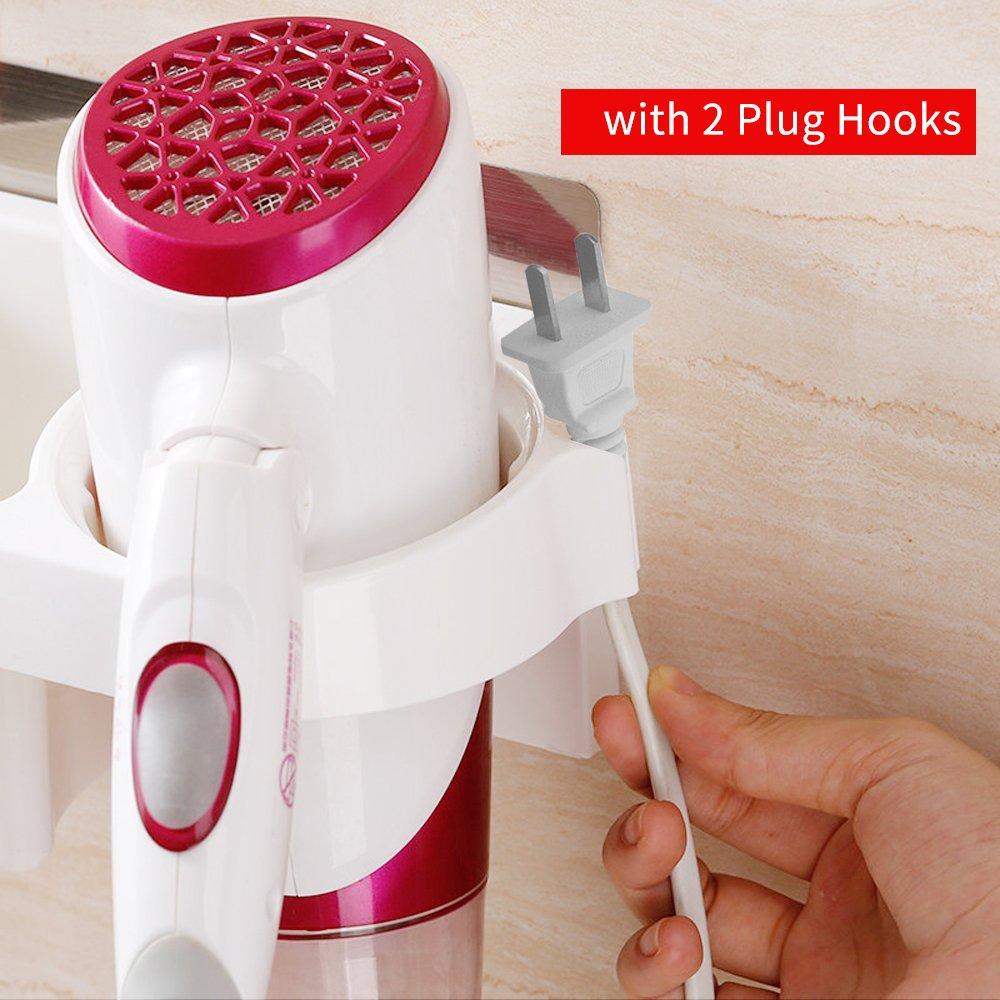 Drillless bagno asciugacapelli mensola scaffale con collettore Up asta di capelli lisci cestino di stecca gancio per la cura dei capelli strumenti curling stick Tiang Sticky asciugacapelli rack