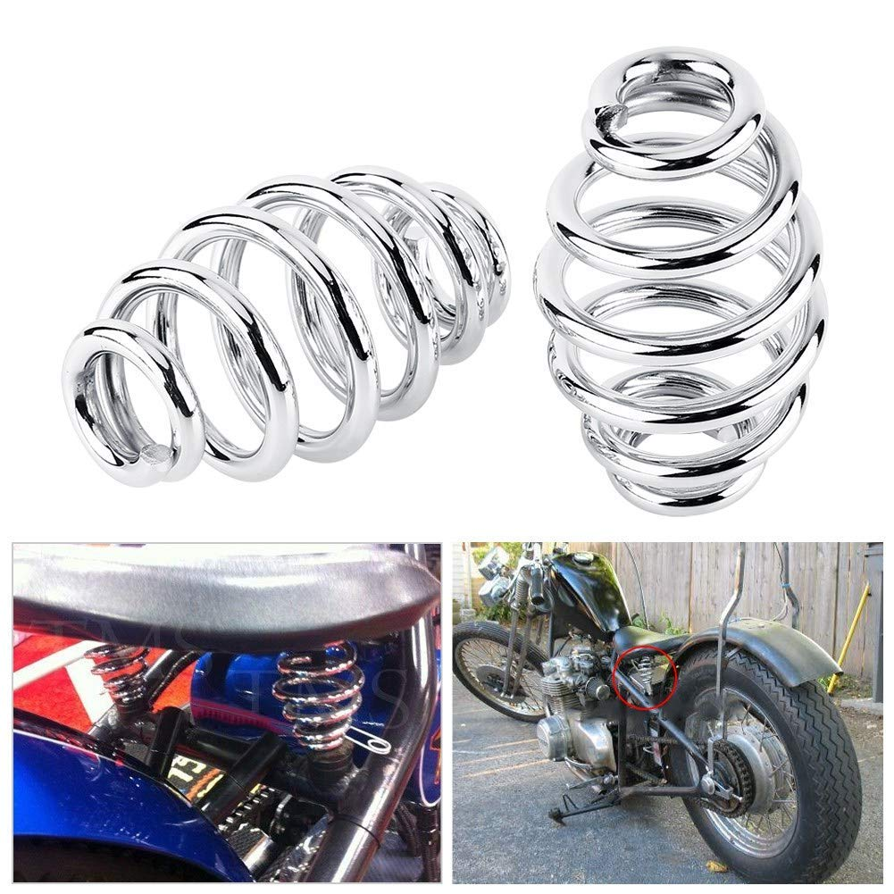 3Stainless Steel Solo Seat Springs For Harley Custom Motorcycle Chopper Bobber Softail Silver,1 Pair