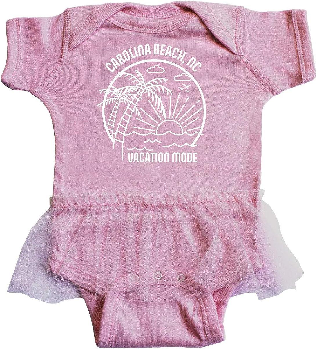 inktastic Summer Vacation Mode Carolina Beach North Infant Tutu Bodysuit