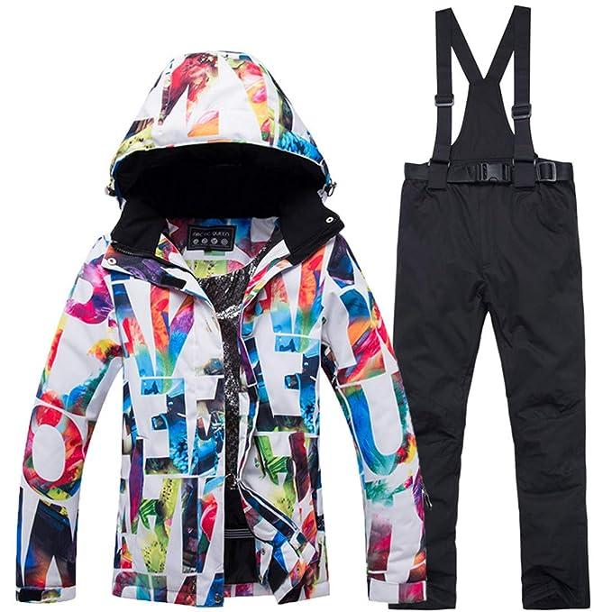 Amazon.com: Conjunto de pantalones gruesos e impermeables ...