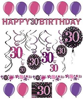 Feste Feiern Geburtstagsdeko Zum 30 Geburtstag I 12 Teile