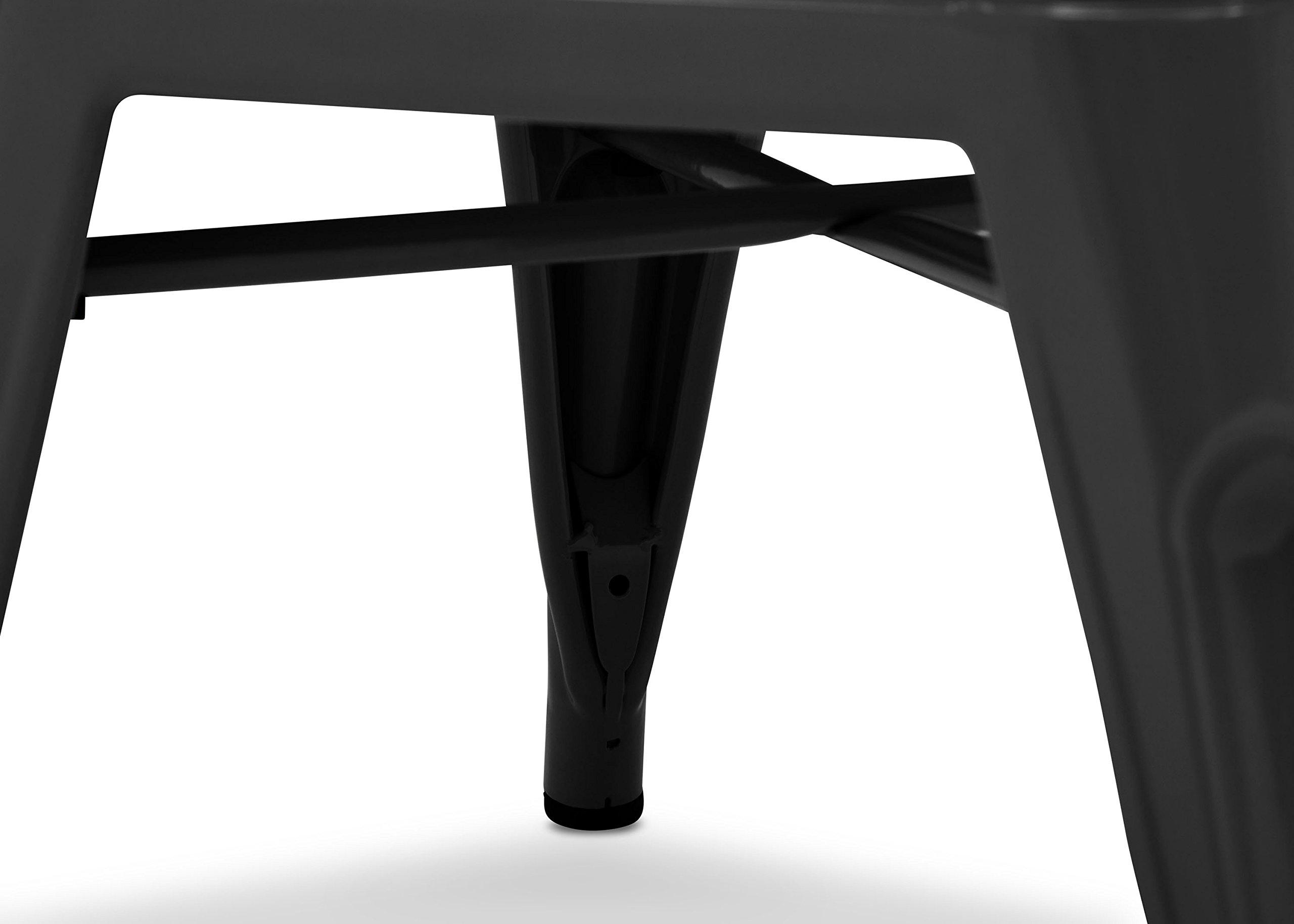 Delta Children Bistro 2-Piece Chair Set, Black with Driftwood by Delta Children (Image #5)