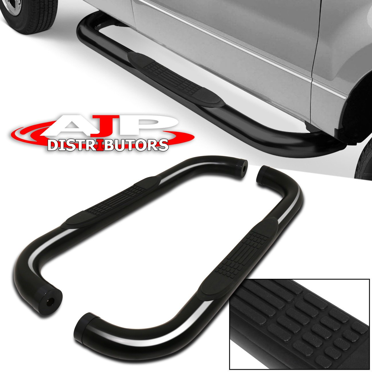 For Jeep Wrangler 3 3 Inch Round Stainless Steel Side Step Nerf Running Board Rail