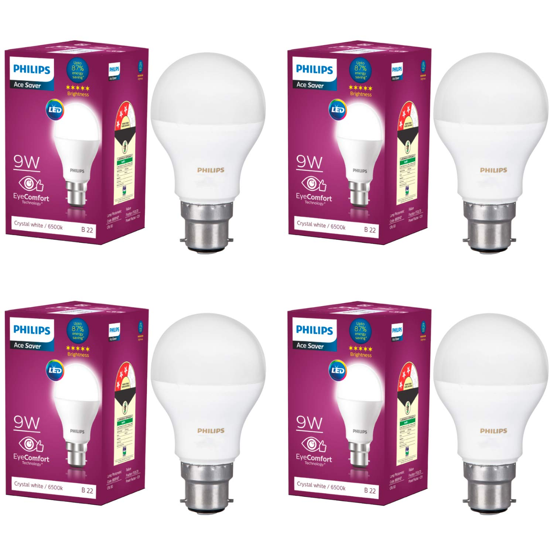 Great Deal Philips 9-Watt LED Bulb (Pack of 4)