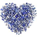 Swpeet 1 Pound Lapis Lazuli Small Tumbled Chips Stone Gemstone Chips Crushed Pieces Irregular Shaped Stones Crystal…