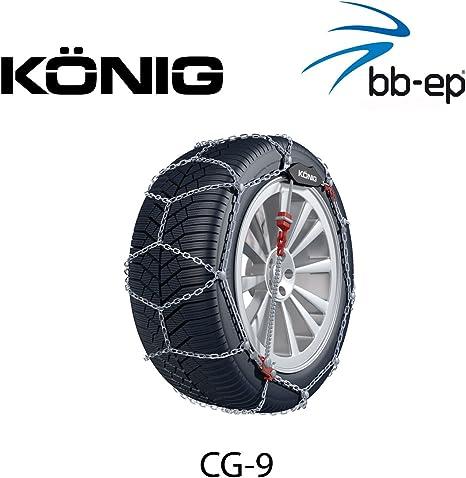 BB-EP Cha/îne /à Neige pour Dacia Sandero Stepway avec la pneus Taille 205//55/R16/ uni et certifi/é T/ÜV /avec selbstspannm echanismus/ /Garantie 5/Ans avec /ö Norme