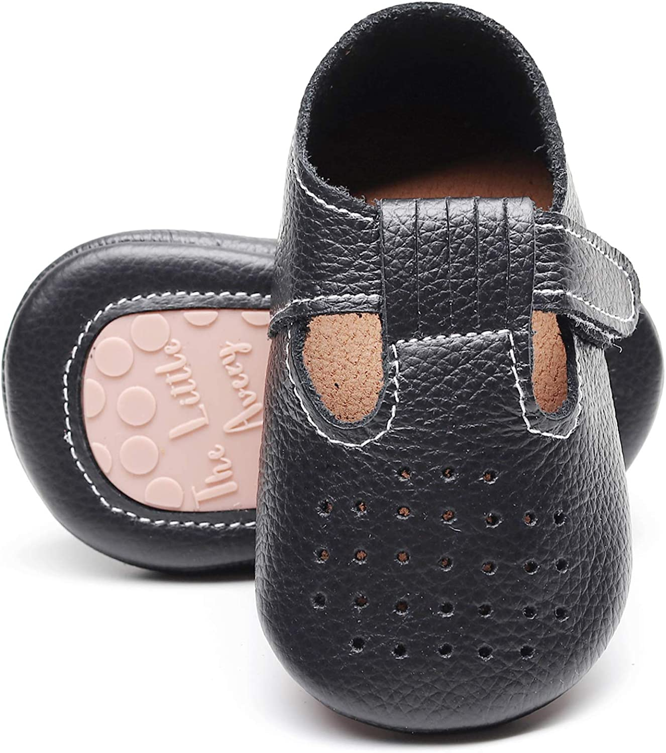 HONGTEYA T-Strap Baby Moccasins with