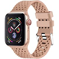 Lwsengme Soft Rubber Replacement Wristband for Apple Watch