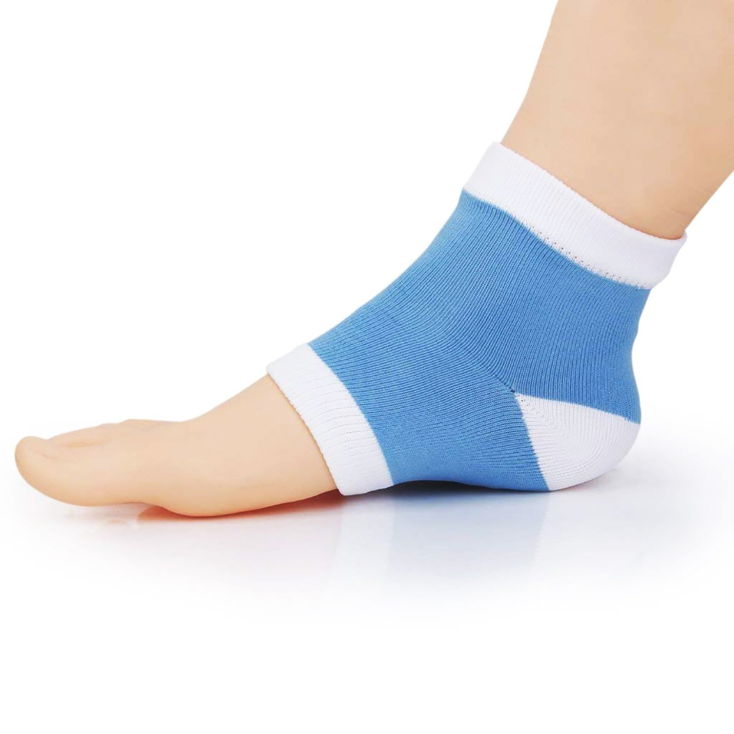Cracked Heel Treatment - Heel Socks - Cracked Heels - Gel Socks - Moisturizing Socks - Callus Feet - 2 Pairs - Ballotte by Ballotte (Image #1)