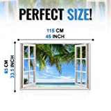 Realistic Window Wall Decal - Peel and Stick