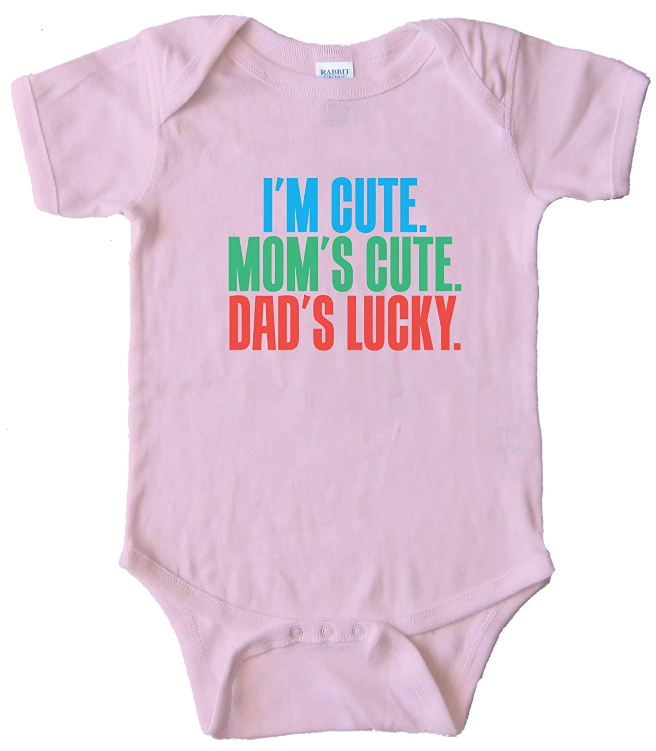 Amazon I M CUTE MOM S CUTE DAD S LUCKY BABY ONESIE
