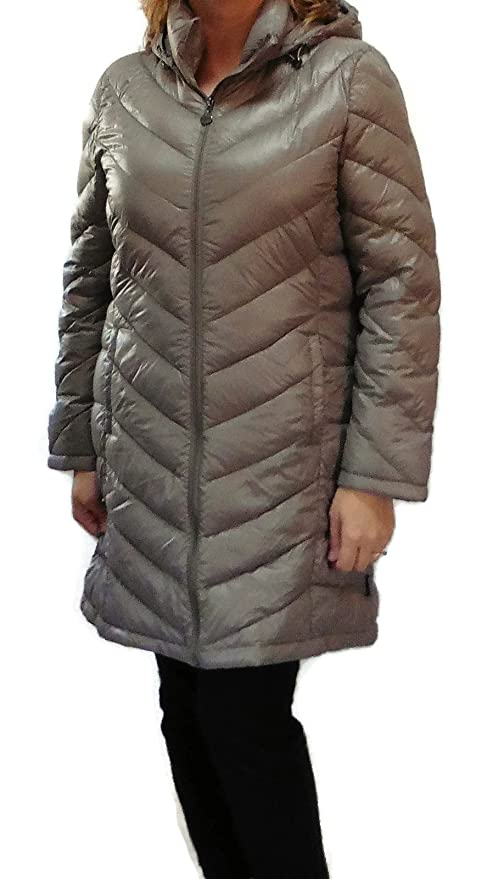 Amazon.com: Calvin Klein Lightweight Packable Down Quilted Puffer Coat (Small, Taupe): Clothing