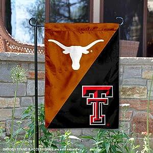 Texas vs. Texas Tech House Divided Garden Flag Banner