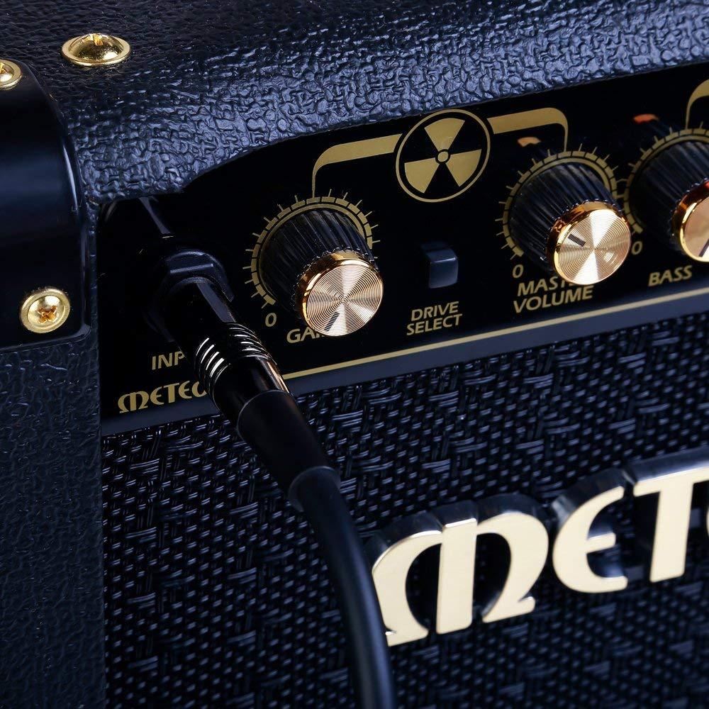 Bleu Tweed Tiss/é Rayzm C/âble Tress/é Blind/é 5 m/ètres pour Guitare// Guitare Basse 6.35mm C/âble pour Instrument Mono M/âle Coud/é 1//4 Inch
