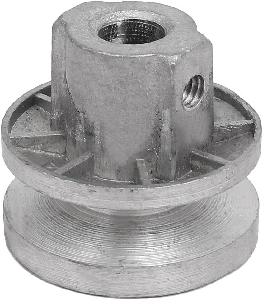 Aexit 40 mm x 35 mm Metal Lavadora Polea (model: A5614VIIII-9878BF) motriz Rueda plateada