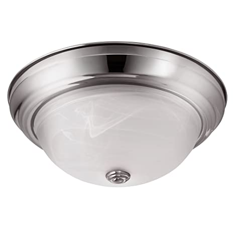 Lb72126 led flush mount dome ceiling fixture antique brushed nickel 13 inch