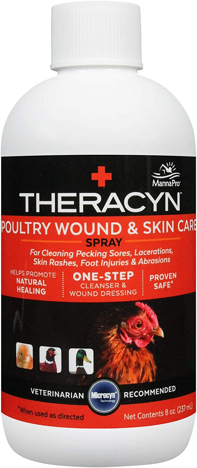 Manna Pro Theracyn Wound & Skin Care Poultry Liquid, 8 oz