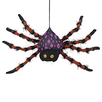 Amazon.com: Spider - Figura decorativa para Halloween ...