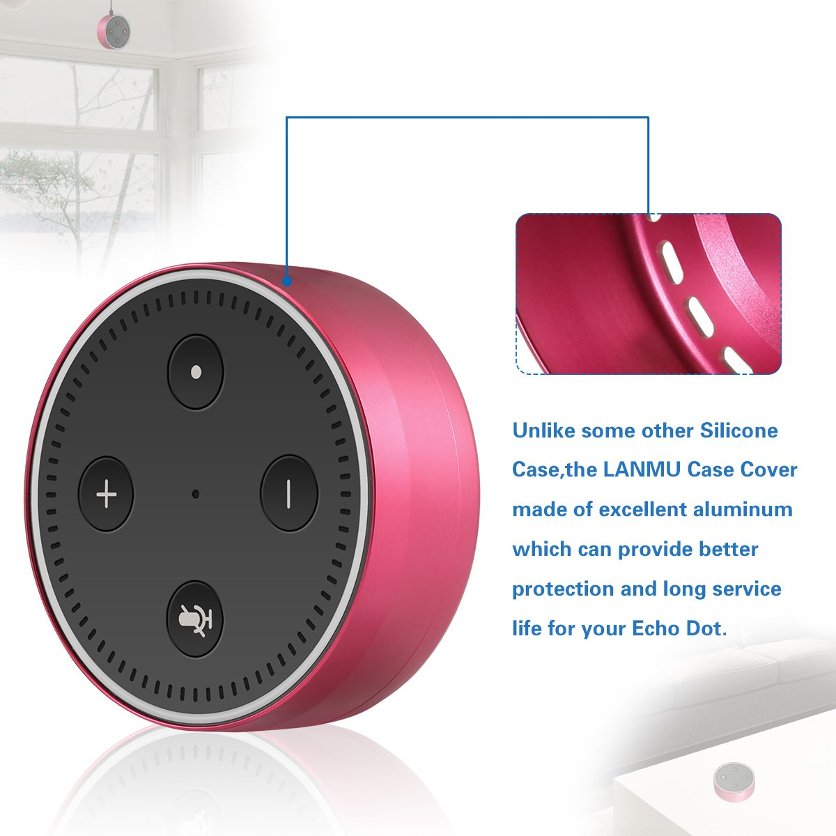 Wall Mount For Echo Dot Lanmu Aluminum Speaker Holder Case