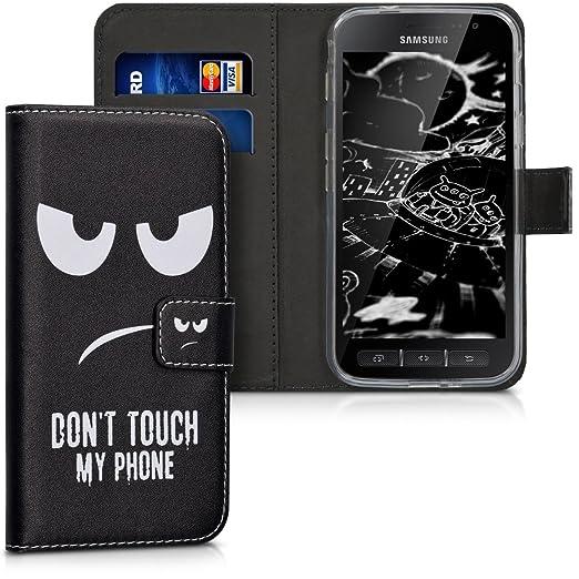 2 opinioni per kwmobile Custodia portafoglio per Samsung Galaxy Xcover 4- Cover a libro in