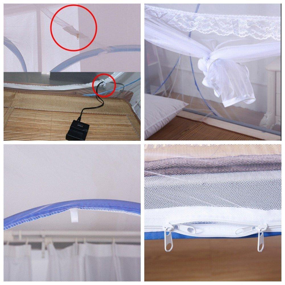 Anti-Moskito bei/ßt Zelt Reefa Moskito Netz,Pop-Up Jurte Kuppel Net-freie Installation und Faltung Netze