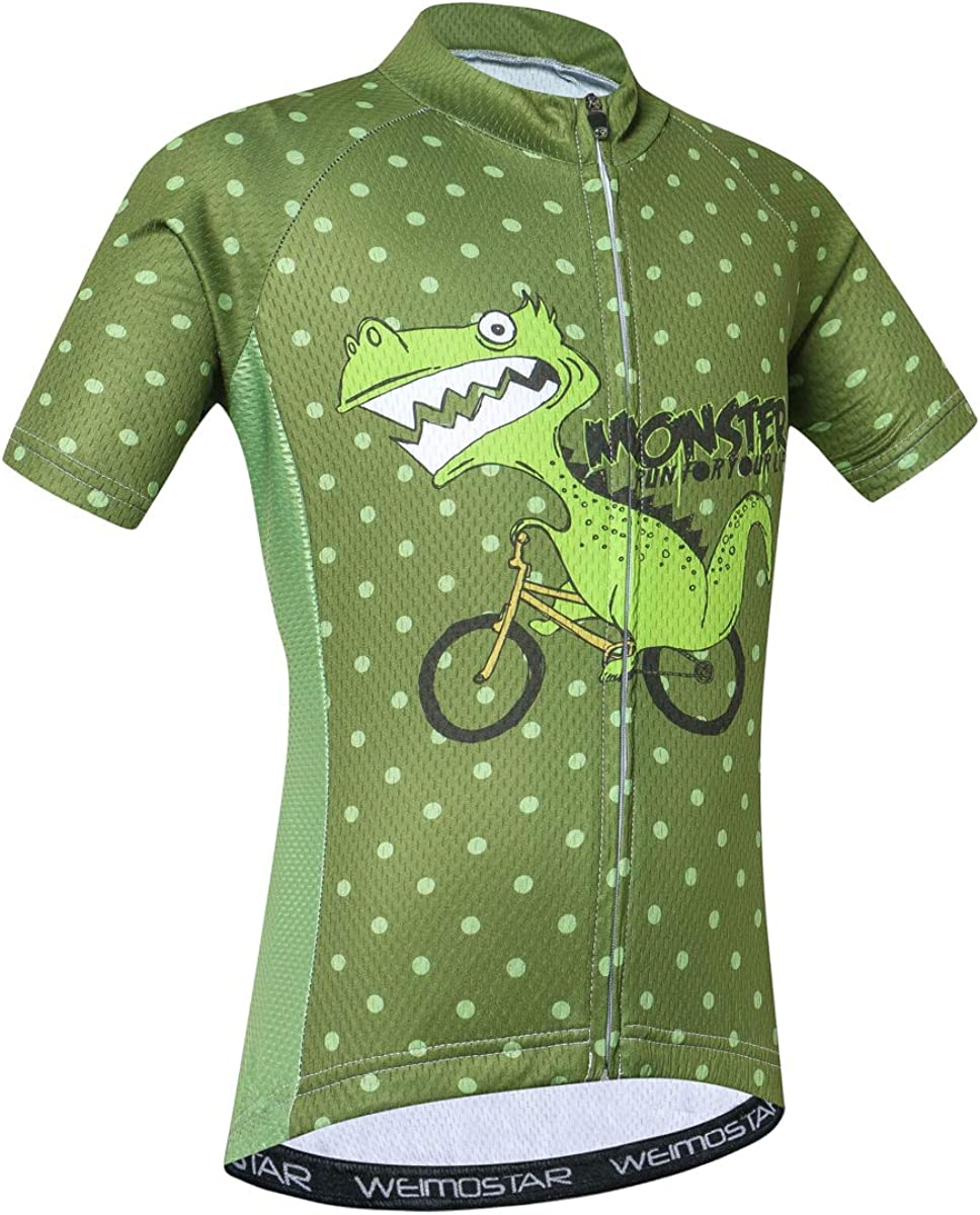 Kid Children Boys' Girls' Short Sleeve Cycling Jersey for Youth