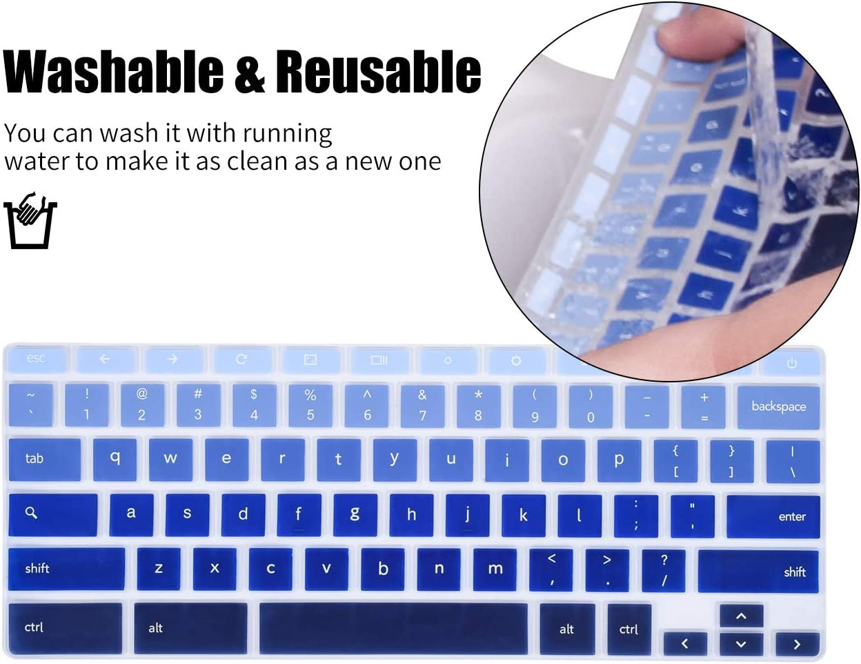 Rainbow Keyboard Cover Skin Compatible with 11.6 Samsung Chromebook 3 4 XE500C13 XE501C13 XE310XBA,Samsung Chromebook 2 XE500C12 12.2 Samsung Chromebook Plus V2 2-in-1 XE520QAB