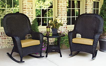Amazon Com Tortuga Outdoor Two Porch Wicker Rocking Chairs And
