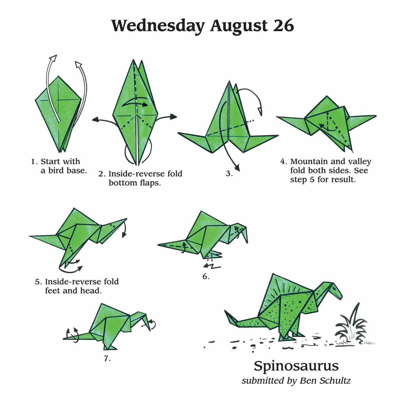 Origami Spinosaurus Easy | Tutorial Origami Handmade - photo#34