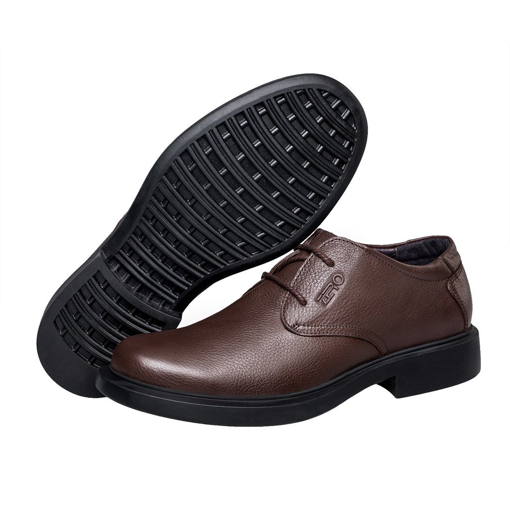 ZRO Men's Round Toe Oxford Shoes Lace Up Casual business Brown US 6 by ZRO (Image #6)