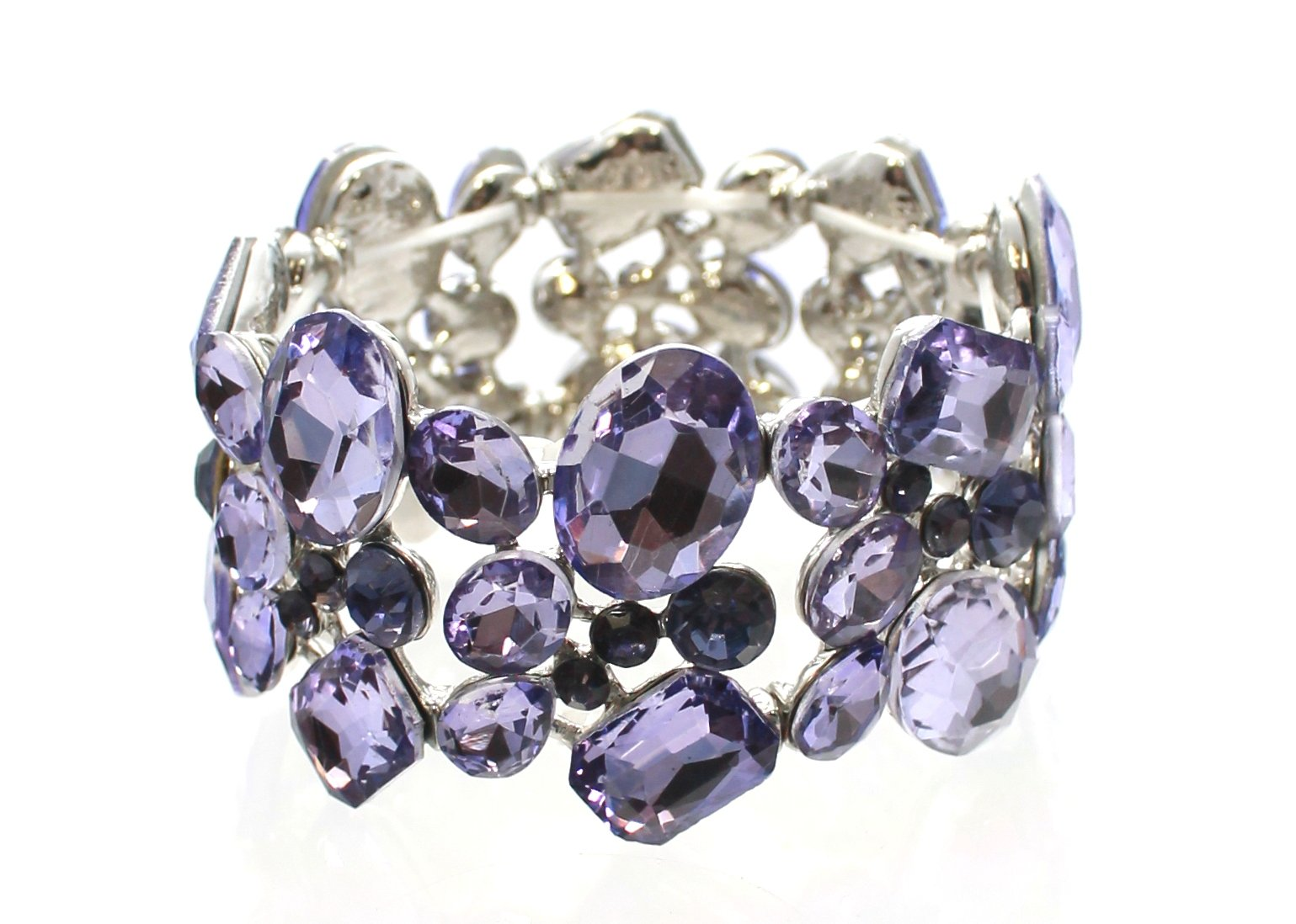 Carole Fay Jewelry Lustrous Lavender on Silver Stretch Bracelet, fits almost every wrist! Perfect for both Prom and Pageant, as well as any Special Occasion!