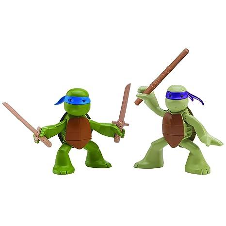 164ed10e2 Amazon.com: Nickelodeon Teenage Mutant Ninja Turtles, Ninjas in Training,  Donatello and Leonardo Action Figures: Toys & Games