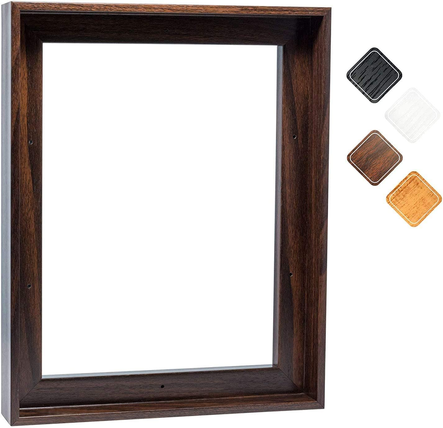 Canvas Floating Frame, Picture Oil Painting Floater Frame Wall Art Decor for Finished Canvas 20x30 Inch, Dark Brown 21x31 Inch