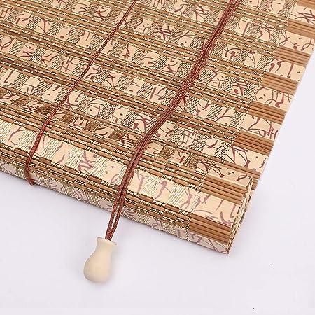 Estor enrollable YXX Persianas Exteriores de bambú for pergola Balcón Patio Patio Exterior, 80 cm / 100 cm / 120 cm / 140 cm / 160 cm de Ancho, fácil de Instalar (Size : 120cmx220cm): Amazon.es: Hogar
