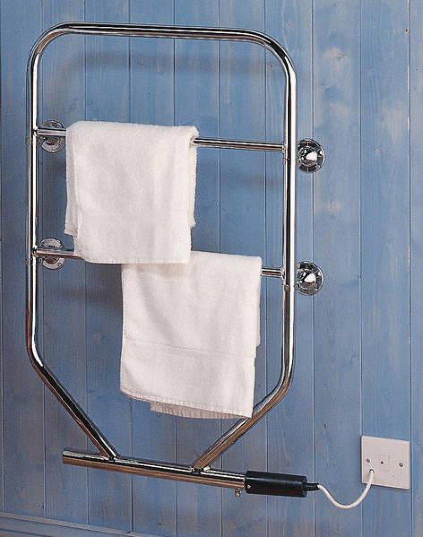 Dimplex TTRC130 90W Water Glycol Filled Electric Towel Rail Chrome ...