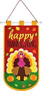 Thanksgiving Felt Door Banner for Home Office Classroom Hanger Decor, Thanksgiving Turkey Dinner Party, Fall Outdoor Decorations.