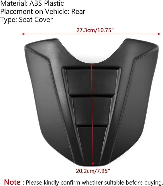 Topteng Capot de si/ège arri/ère pour moto passager arri/ère Pillion Solo Coque de protection ABS rigide pour Ka-wasaki ZX6R ZX 636 2009-2014