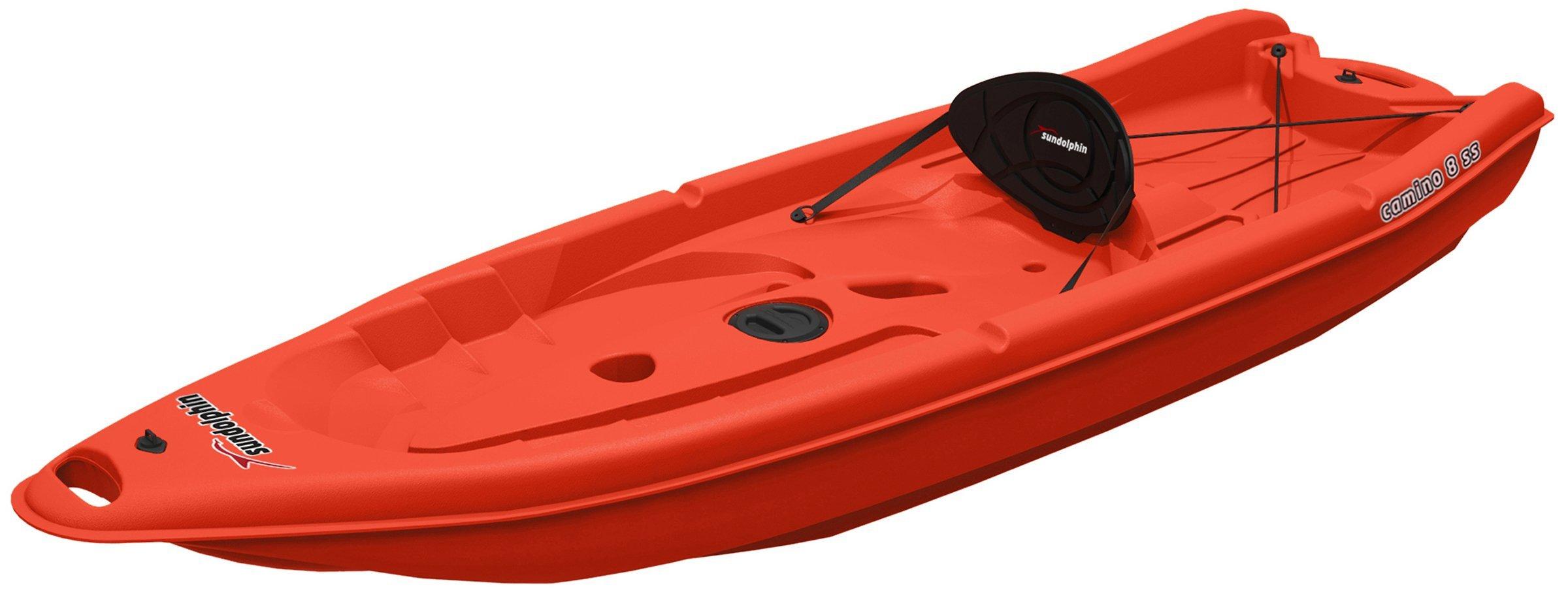 SUNDOLPHIN Sun Dolphin Camino SS Sit-on-top Kayak (Red, 8-Feet) by SUNDOLPHIN