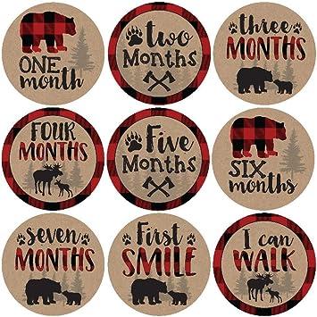 NUOBESTY Baby Boy Month Stickers Newborn Monthly Milestone Stickers para Scrapbook Keepsake Journal